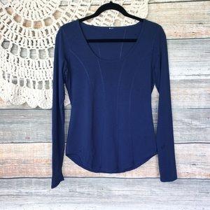 Lululemon | Navy Blue Long Sleeve Workout Top